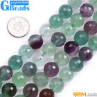 "Natural Rainbow Fluorite Gemstone Faceted Round Beads Free Shipping 15"" Strand"