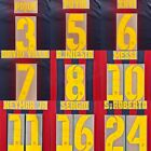 2012-14 Barcelona Player Issue Home Name Set Sipesa for Shirt Jersey