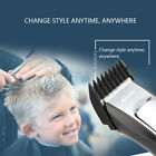 Electric Wireless Hair Cutter Grooming Trimmers Machine Kit with 4 Guide Combs#