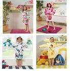 Original Kid Girls Cotton Soft Bathrobe Hooded Dressing Gown Bath Robe Nightwear