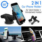 2in1 360 Car Windshield Air Vent Mount Phone Holder for GPS Mobile Smart iphone