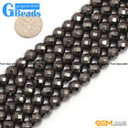 """Black Magnetic Ball Hematite Gemstone Faceted Round Beads Free Shipping 15"""""""