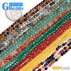 4mm Faceted Round Assorted Gemstone Beads for Jewelry Making Free Shipping 15""