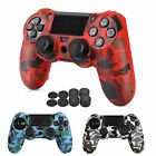 Camouflage Silicone Rubber Case Skin Grip Cover For PlayStation 4 PS4 Controller