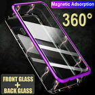 Case for Apple phone 7 8 X XR Xsmax Metal Magnetic Double sided Glass Cover