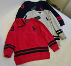 Polo Ralph Lauren BOYS KIDS Sweatshirt Sweater Big Pony FLEECE LINED NO.3 JUMPER
