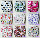 Baby Infant One Size Cloth Diaper Minky Fabric Reusable Nappy Cover Liner Insert