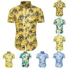 Men Hawaii Shirts Summer Button Down Short Sleeve Shirts Hawaiian Shirt Tops HOT