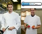 SIMON JERSEY COOLMAX CHEF UNISEX JACKET CHEFS WHITES LONG & SHORT SLEEVE