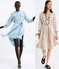 ZARA JOIN LIFE CASUAL SMART LINEN COTTON FROCK ROBE BELTED DRESS WITH POCKETS