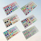 2/6 Sheets Funny Gem Stickers Beautiful Bead for Craft Scrapbooking Phone