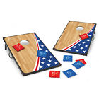 3 x 2' Portable Wooden Bean Bag Toss Cornhole Game Set W/ 2 Boards 8 Beanbags