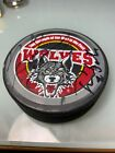 Rare Wolves Signed Game Puck Caught From 2008-2011