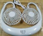 Glowing  Mini Portable Fans Neck Hanging Fan Cooler USB  Conditioner
