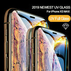 For Apple iPhone 6 7 XR Xs-max UV-Glue Gorilla Full Curved Liquid Tempered Glass