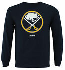 Reebok NHL Men's Buffalo Sabres Jersey Crest Long Sleeve Tee $11.99 USD on eBay