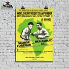 Poster Vintege Muhammad Ali George Foreman Boxen Ring Boxen Sport Cassius Clay