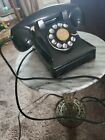 #5 Dial Bell System Western Electric F1 Heavy Metal Black Rotary Phone 6/41 OLD