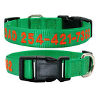 New Arrived Custom Embroidered Nylon Dog Collar Personalized Dog ID Name Collar