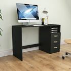 Computer Desk Drawer Shelves Laptop PC Table Home Office Study Workstation
