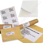 10 25 50 100 500 1000 A4 SHEETS OF PLAIN WHITE SELF ADHESIVE LABELS 32 PER PAGE