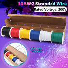 22 30 AWG Gauge Electric Wire Tinned Copper Flexible PVC HookupTotal 54M