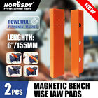 "4.5""/6"" Vise Soft Jaws/Vice Jaw Magnetic Reversible Pads Universal 2 Sets in 1"