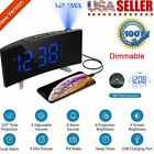 Mpow Projection Alarm Clock 5'' LED Curved-Screen FM Radio 2 Alarm 12/24 Hour