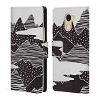 OFFICIAL KOOKIEPIXEL MOUNTAINS LEATHER BOOK WALLET CASE FOR WILEYFOX & ESSENTIAL
