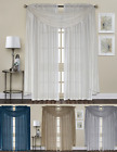 Biscayne Semi Sheer Shabby Shimmer Window Curtain Treatments - Assorted Colors