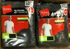 3 Pack Hanes Mens Pocket t Shirt sizes S - 3XL Choose Black/Gray image