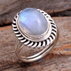 Natural Oval Cab Moonstone 925 Sterling silver Jewelry Ring Size us 7