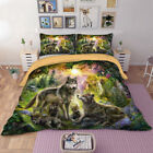 Wolf 2/3PC Duvet Cover Set Twin Queen King Size Bedding Set Animal Wongs Bedding image