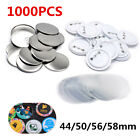 1000PCS Blank Pin Badge Supplies Parts for Button Maker Materials 44/50/56/58mm