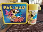 Vintage lunchboxes Pac Man with thermos Bally Midway MFG. CO.