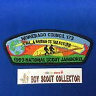 Boy Scout CSP Winnebago Council 1993 National Jamboree Council Shoulder Patch