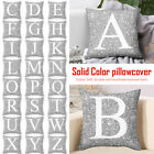 New A-Z Letters Cushion Throw Pillow Case Cover Home Sofa Bed Decor 45x45cm HL