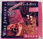 WIRE JEWELRY STUDIO-IN-A-BOX BOOK & KIT (BOOK WIRE MANDREL, 3 PLIERS, EAR WIRES)