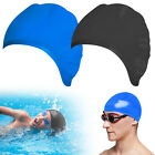 Swimming Cap Waterproof Silicone Swim Pool Hat for Adult Long Hair Women Unisex