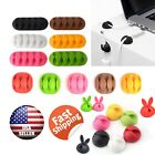 Cable Clip Grip Desk Wall Organizer Desktop Wire Cord Type Usb Charger Holder