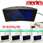 Digital Alarm 5 Dimmable Clock Snooze 12 24 Hour USB Port  Kids Bedroom USB/US