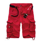 Men's Combat Army Military Cargo Shorts Summer Casual Work Pockets Short Pants