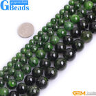 Natural Genuine Green Diopside Gemstone Round Loose Beads For Jewelry Making 15""