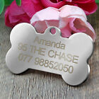 Stainless Steel Disc Personalized Pet Puppy Cat Dog ID Tags Bone Round Sliver