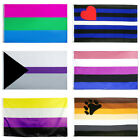 3x5ft Polyester Rainbow Polysexual Bisexual Flag Gay Leisbian Pride Lgbt Banner