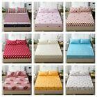 Elastic Fitted Sheet Queen King Size Bedding Cover Pillowcases Microfibber image