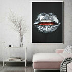 Waterproof Painting Decoration Canvas Home Decor Wall Art Abstract graffiti lips