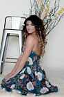 Women's Flirty Floral Fit and Flare Summer Dress Green Floral Fit and Flare Mini