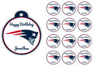 New England Patriots Birthday Party Gift Tags Round Labels Stickers Gloss Vinyl on eBay