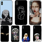 Mona Lisa Art David Line Soft Silicone Phone Case Cover for Apple iPhone